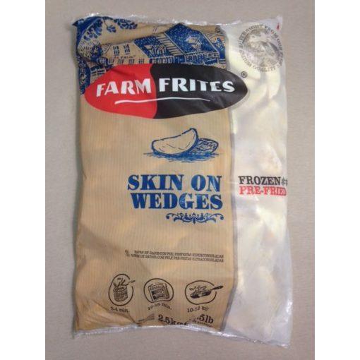 Farm Frites héjas burgonyagerezd (2,5 kg/csomag; 4 csomag/karton)