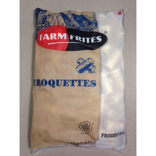 Farm Frites burgonyakrokett (2,5 kg/csomag; 4 csomag/karton)