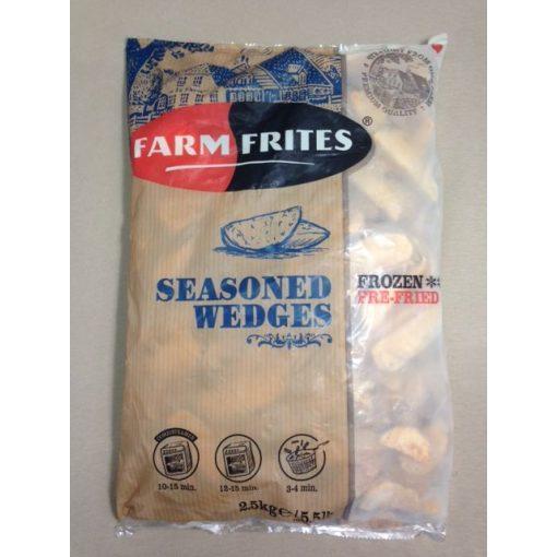 Farm Frites fűszeres héjas burgonyagerezd (2,5 kg/csomag; 4 csomag/karton)
