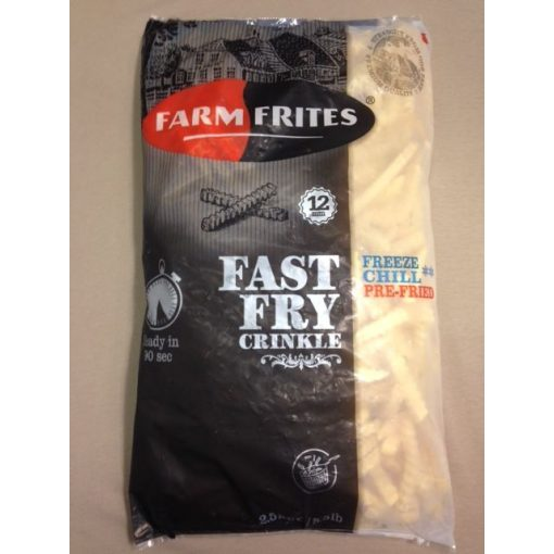 Farm Frites Fast Fry 90mp-es gyorsan süthető hullámos hasábburgonya (2,5 kg/csomag; 5 csomag/karton)