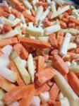 Gyorsfagyasztott húsleves zöldség hasábos (10kg ömlesztett)