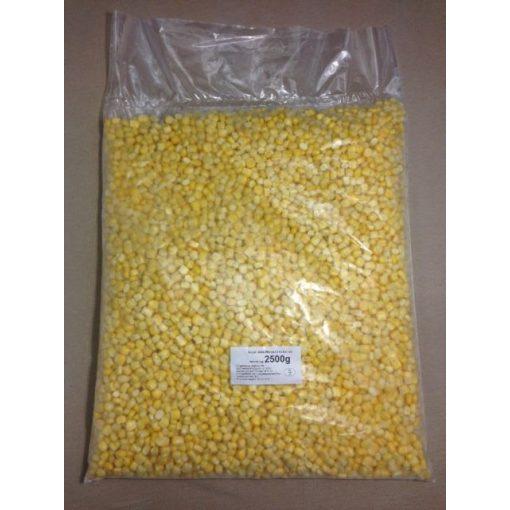 Gyorsfagyasztott morzsolt kukorica (2,5 kg/csomag; 4 csomag/karton)