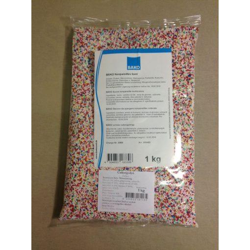 Színes cukorgolyó dísz 1 kg