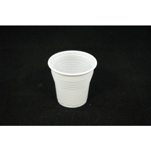 Műanyag pohár 0,8 dl fehér