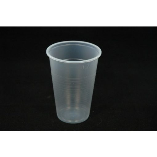 Műanyag pohár 2 dl natúr