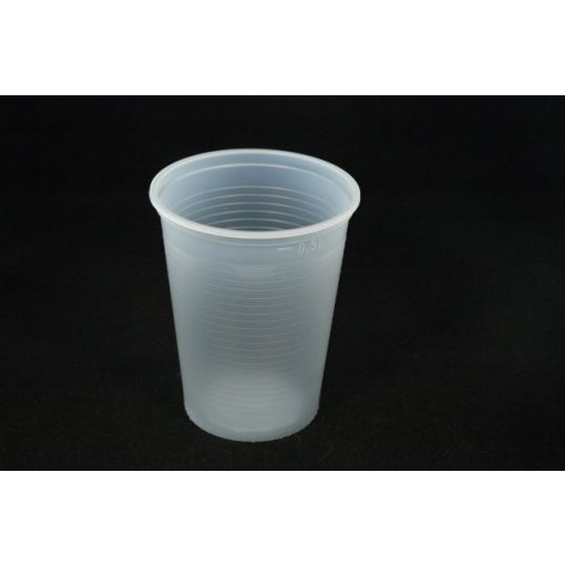 Műanyag pohár 5 dl natúr