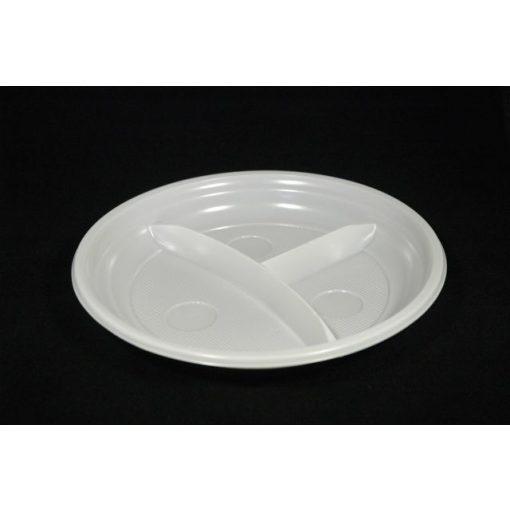 Műanyag tányér 3 részes