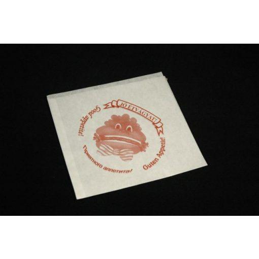 Hamburger tasak papír feliratos (200db/cs)